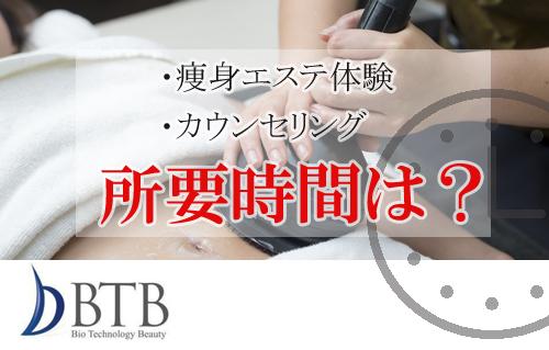 バイオエステBTB初回体験・カウンセリングの所要時間