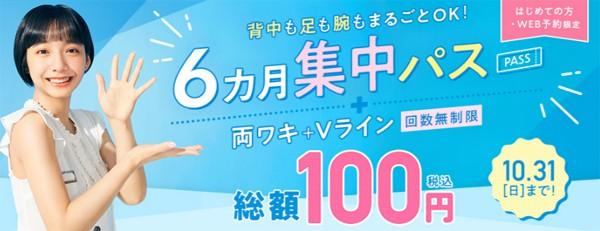 両脇+Vライン100円